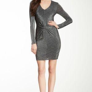 TED BAKER Silver Dress Twist Long Sleeve